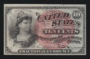 US 10c Fractional Currency 4th Issue FR 1261 Ch CU (-004)