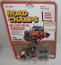 Vintage Road Champs Kenworth Free Wheeling Truck Black with Red #6500 Nos