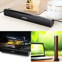 Laptop Usb Portable Stereo Speakers Built-in Sound Card Sound Bar for Laptop PC