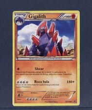 carte Pokemon   GIGALITH    rare  53/98  en Espagnol