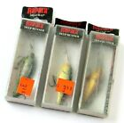Lot of 3 Colors Old Stock Rapala Shad Rap SR-5 Deep Runner Fishing Lures, Read