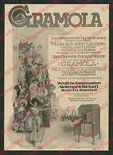 Reklame Gramola Deutsche Grammophon Musik Theater Oper Schauspieler Berlin 1911