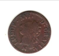 LOUIS XVI  LIARD  ECU royaux frappée 1791 B = ROUEN