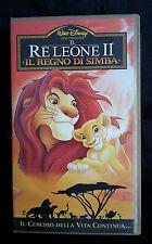 CS12> VHS WALT DISNEY - IL RE LEONE II IL REGNO DI SIMBA