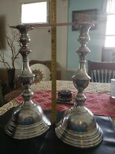 New listing Antique Emperor Austrian Silver Candle Holder. K.K and Lady Head stamped 1800's