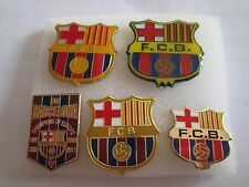 lotto 5 pins lot FUTBOL CLUB BARCELONA FC club spilla football calcio spille
