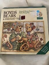 Boyds Bears & Friends Emma & Bailey Friendship Rubber Stamp Kit New Complete Set