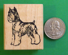 Schnauzer Dog Rubber Stamp, Wood Mounted