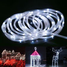 33FT 120 LED Rope Tube Lights String Strip Battery Power Outdoor Garden Party
