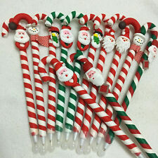 10pcs Christmas Santa Claus Ballpoint Pens Crutch School Supplies Xmas Gift UK