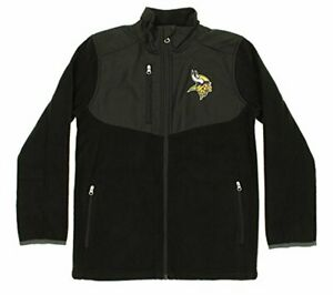 NFL Youth Minnesota Vikings Tactical Polar Fleece Full-Zip Jacket
