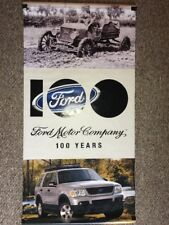 Ford Motor Company 100 Years Anniversary Display Banner Advertising 2 Sided
