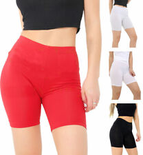Women Plain 1/2 Length Cotton Leggings Ladies Soft Comfortable Above Knee Shorts