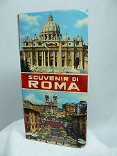Vintage Souvenir Di Roma Rome Italy FOLDOUT Picture Book  - Serie I