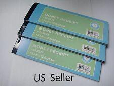 3X-Carbonless Cash Money Rent receipt record book 2 part 50 sets duplicate copy
