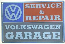 """VW Volkswagen Garage Service Repair Beetle Van Retro Metal Tin Sign 12x8"""" NEW"""