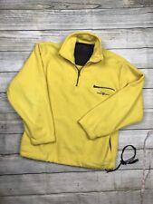 GANT USA 'The Rugger Fleece' Retro Style Pullover Fleece Zip Jacket Yellow S M