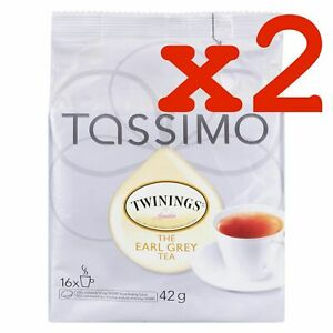 Tassimo Twinings Earl Grey Tea (16) Single Serve T-Discs (2 PACKAGES)