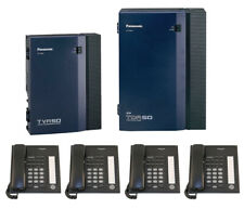 Panasonic Tda50 Hybrid Ip Pbx Amp Tva50 Voice Processing System With 3 Phones