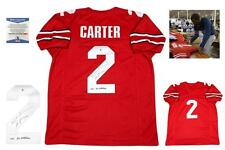 Cris Carter Autographed SIGNED Jersey - Beckett Authenticated w Photo - Red