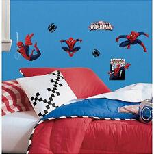 Ultimate SPIDERMAN wall stickers 22 big decals Marvel superhero Spidey web sling