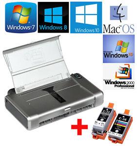 Portable Mobile Printer Canon Pixma IP100 For Windows XP 7 8 10+1 Set Tanks