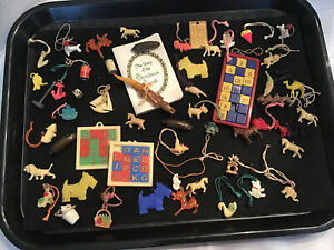 Vintage Junk Drawer 1940's Gumball Machine Charms/Cracker Jack Prizes Lot of 50+
