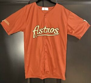 Houston Astros MLB Majestic Brick Red Jersey Size Medium