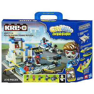 KRE-O CityVille Invasion_POLICE STATION ZOMBIE DEFENSE_270 Pieces with 6 figures