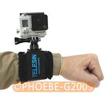 TELESIN 360° Adjustment Wrist/Hand Mount Strap Belt for Gopro Hero 3 2 1