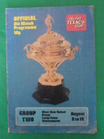 PROGRAMME - TEXACO CUP - Official Six Match Programme Group Two - Aug 3-10 1974
