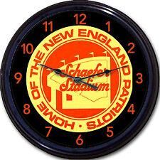 """New England Patriots Schaefer Stadium Football Beer Coaster Wall Clock NFL 10"""""""