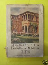 AA.VV. - ALMANACCO DELLA FAMIGLIA MENEGHINA PER L'ANNO 1933 - CESCHINA