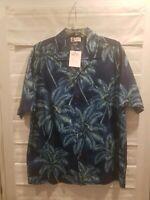 Vintage Brand New w Tags Aloha Hawaiian Shirt Palm Trees Sz L Made In Hawaii H11