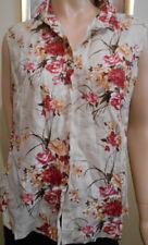 Linen Floral Sleeveless Tops & Blouses for Women