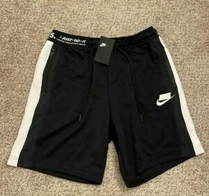 Mens Nike Sports Standard Fit Shorts Size Medium Black & White NWT'S $85