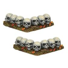 Department 56 (New) Halloween - Row of Skulls, Curved #6001747 Free Ship
