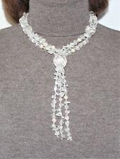 Collana Collier Cristallo di Rocca Perle di Fiume Pietre Dure Autentiche