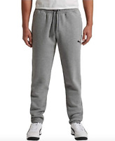 Puma Men's Fleece Heavyweight Sweatpants with Ribbed Waistband and Pockets