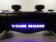 2x CUSTOM TEXT GAMER TAG PS4 PlayStation Controller Light Bar Decal Sticker