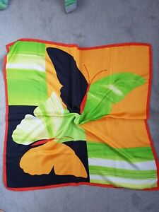 Gorgeous Vibrant Butterfly Pure italian Silk Scarf