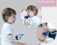 Nontoxic Silicone Baby Finger Guard Stop Thumb Sucking Wrist Band Teether Gloves