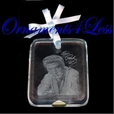 Carlton American Greetings Ornament 2009 Elvis Presley Etched Glass #AGOR047V
