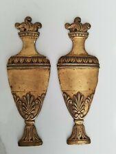 Neoclassical Guilded Bronze Pair Amphoras
