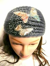 Winter Women Ear Warmer Butterfly HeadWrap Fashion Crochet Headband Knit Flower