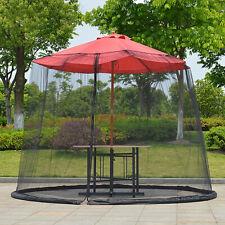 Portable Courtyard Net Cover Sunshade Sunblock Umbrella Mosquito Mesh Outdoor Us