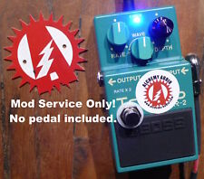 Modify Your Boss TR-2 Tremolo Guitar Effects (No Pedal) Mod Service Only!