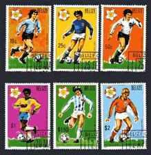 Football Belize (35) série complète 6 timbres oblitérés