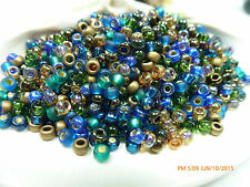 8/0 Miyuki Peacock Garden Round Glass Seed Beads 10Grams #08-Mix-28