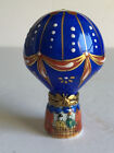 Vintage ROCHARD Limoges France Porcelain HOT AIR BALLOON Trinket Box Hand Paint
